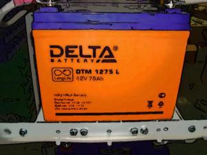 аккумулятор delta dtm
