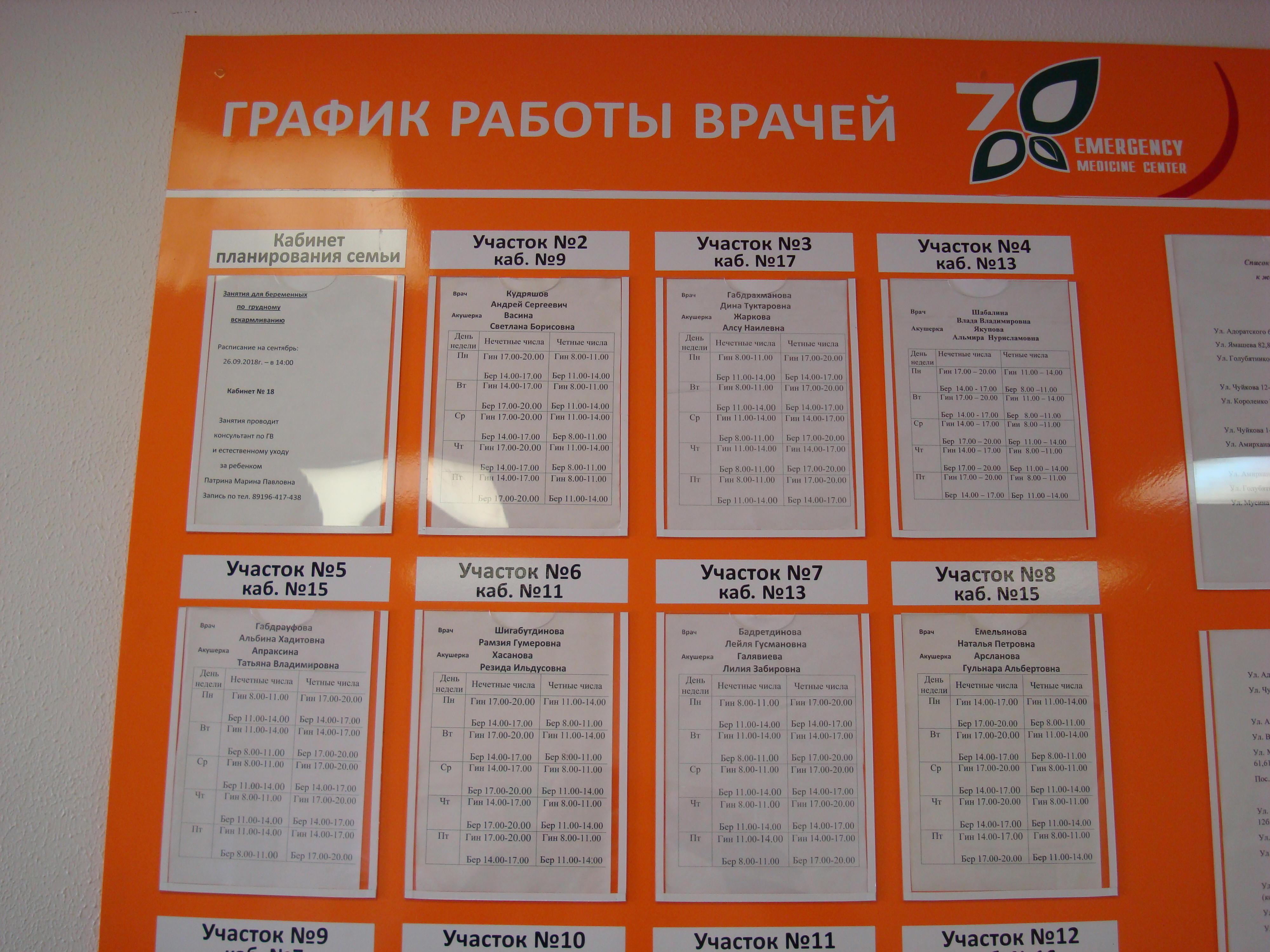 женская консультация №1 ул.Чуйкова д.56 расписание участков со 2 по 8